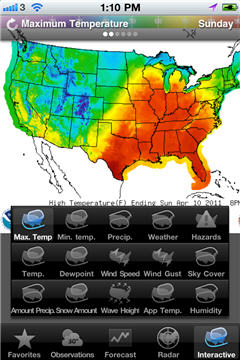 Interactive Forecast Maps